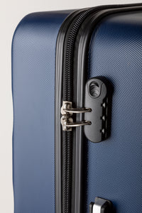 Secure Locking Suitcase Navy Blue
