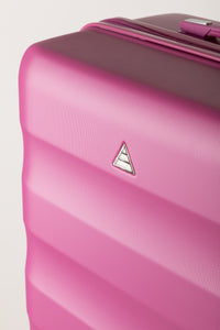 Runway Hard Shell Family Suitcase - Pink