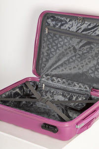 Lightweight Hard Shell Carry on Suitcase - Pink