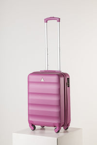 Hard Shell Carry On Luggage Pink Runway Suitcase Milan Range