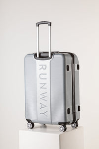 Family Sized Lightweight Suitcase Silver