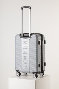 Florence Fashion Suitcase, Large Silver