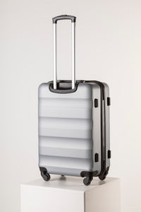 Large Hard Shell Suitcase - Silver
