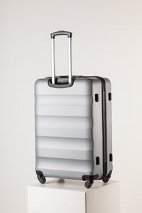 Extra Large Silver Suitcase