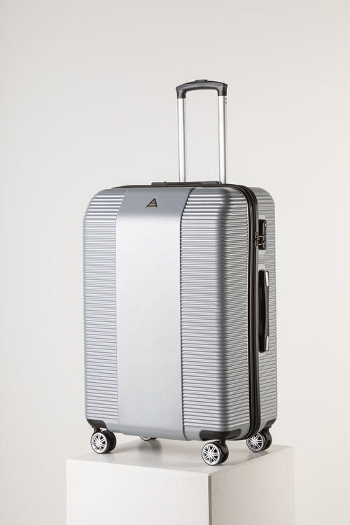 Lage Lightweight Luggage, Silver Secure Suitcase