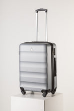 Load image into Gallery viewer, Large Hardshell Suitcase Silver