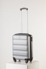 Load image into Gallery viewer, Hard Shell Carry On Luggage Silver Runway Suitcase Milan Range