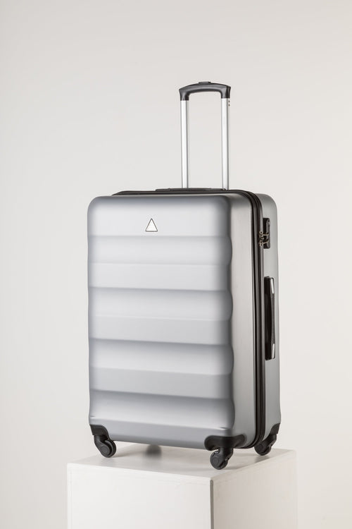 Extra Large Family Sized Luggage Silver