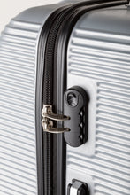 Load image into Gallery viewer, Secure Locking Suitcase, Lightweight Silver