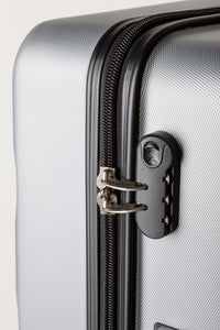 Secure Locking Suitcase Silver