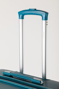 Large Teal Family Suitcase With Telescopic Handle