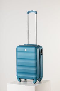 Hard Shell Carry On Suitcase Runway Teal Reflection