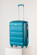 Load image into Gallery viewer, Large Hardshell Suitcase Bright Teal