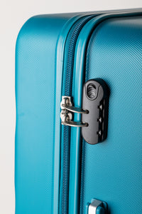 Secure Locking Suitcase Teal