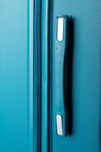 Large Hard Shell Suitcas With Cushion Grip Handles Teal