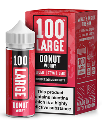 Donut Worry e-liquid is a sweet vape featuring a crispy doughnut filled with strawberry and vanilla jam.   This e-liquid is 70%VG which is ideal for flavour and clouds. We recommend using this e-liquid in a sub-ohm kit. - Vapox UK LTD (5615512060065)