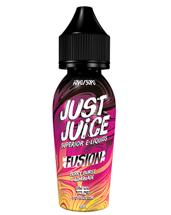 Berry Burst & Lemonade e-liquid is a soda blend that features a combination of berry fruit flavours including luscious strawberry, blueberry, and blackberry that is infused with fizzy and zesty lemonade.   This e-liquid is 70%VG which is ideal for flavour and clouds. We recommend using this e-liquid in a Sub-ohm kit. Just Juice 50ml - Vapox UK LTD (5652356038817)