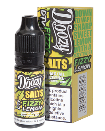 Fizzy Lemon e-liquid is a zesty blend featuring sweet candy lemon sherbets.   This e-liquid is 50%VG which is ideal for flavour and discreet clouds. We recommend using this e-liquid in a pod device or starter kit. Doozy Vape Salts - Vapox UK LTD (5595753316513)