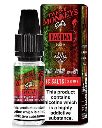 Hakuna Nic Salt eLiquid by Twelve Monkeys - Vapox UK (4494395965512)