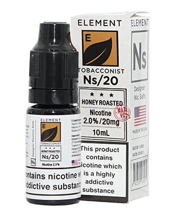 NS20 Honey Roast Tobacco eLiquid by Element - Vapox UK (4384538591304)
