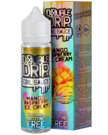Mango Raspberry Ice Cream eLiquid by Double Drip Coil Sauce 50ml - Vapox UK LTD (4511595397192)