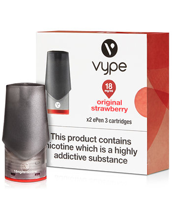 Original Strawberry eLiquid ePen 3 Pod by Vype (4576212189256)