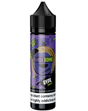 Rype e-liquid is a rich dessert blend that combines juicy grapes with a warm pie crust.  This e-liquid is 70%VG which is ideal for flavour and clouds. We recommend using this e-liquid in a Sub-ohm kit. Panda Bomb - Vapox UK LTD (5695306367137)