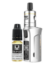 The Vaporesso Target Mini 2 Kit is small yet great sub-ohm and MTL vape kit. Powered by a built-in 2000mAh battery and capable of 50W maximum output, making it ideal for use with high VG and high PG eliquids for producing big clouds and great flavour.  Silver Kit (5815021109409)