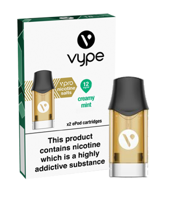 Creamy Mint Nic Salt eLiquid ePod Pod by Vype - Vapox UK LTD (5434452803745)