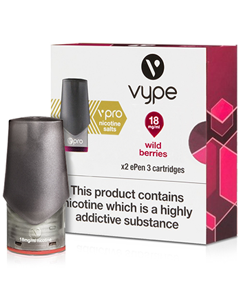 Wild Berries Nic Salt eLiquid ePen 3 Pod by Vype - Vapox UK LTD (5239700455585)