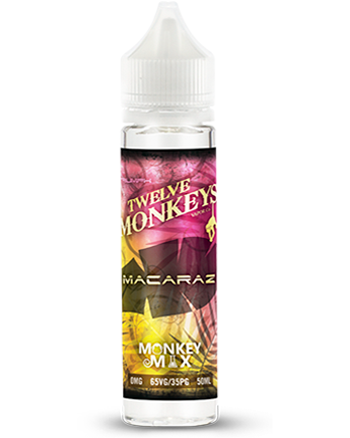 Macaraz eLiquid by Twelve Monkeys 50ml - Macaraz e-liquid is a pastry blend with notes of fruit and nuts. A sweet Macaron base complemented by roasted almonds and juicy raspberries. - Vapox UK LTD (5552550412449)