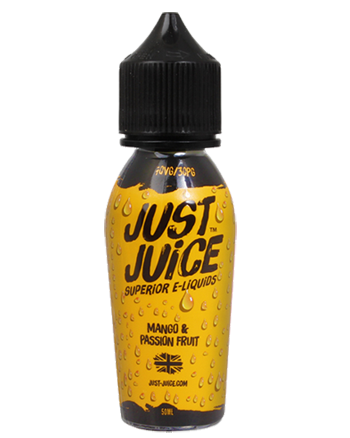 Mango & Passion Fruit e-liquid is a tropical fruit blend featuring a ripe mango and tart passionfruit.   This e-liquid is 70%VG which is ideal for flavour and clouds. We recommend using this e-liquid in a Sub-ohm kit. Just Juice - Vapox UK LTD (5652393656481)