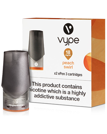 Peach Swirl eLiquid ePen 3 Pod by Vype - Vapox UK LTD (4576211468360)