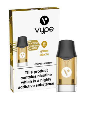 Golden Tobacco Nic Salt eLiquid ePod Pod by Vype - Vapox UK LTD (5434441957537)