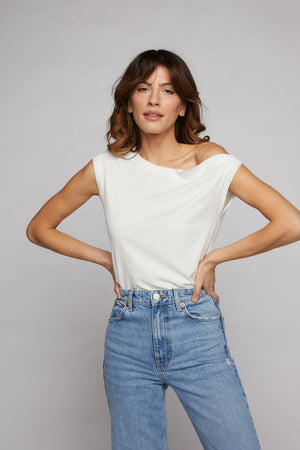 Drop Shoulder Top - Off White
