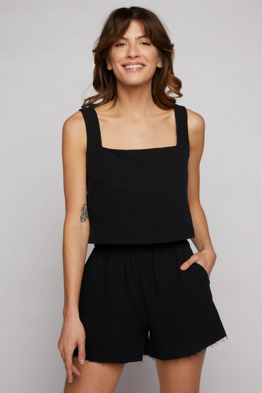 Marina Crop Top - Black