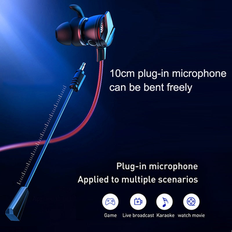 Fone Baseus 3,5mm Gamo-15 In Ear Com Microfone HD Destacável