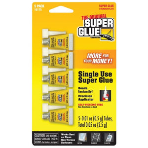 Super Glue - Single Use 5-Pack