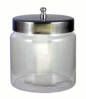 Glass Dressing Jar with Lid - 4x4""