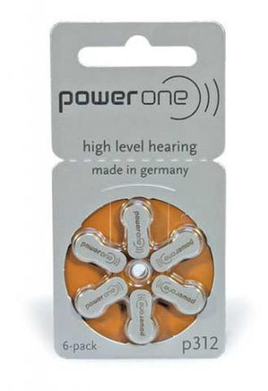 Power One Hearing Aid Battery P312