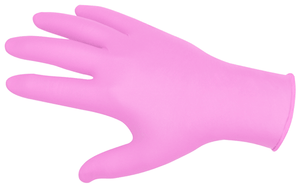 Nitrile Gloves (Pink) - Medium