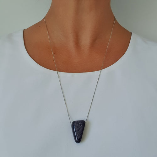 Blue Goldstone Triangle