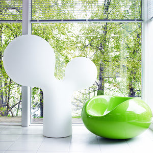 Double Bubble XL lamp and Pastil chair by Eero Aarnio