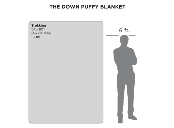 Down Puffy Blanket Size Chart