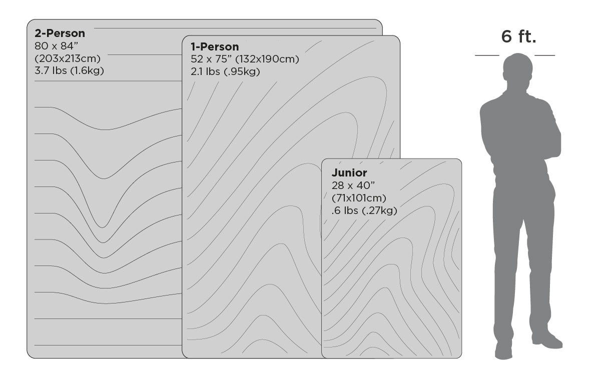 Rumpl Original Puffy Blanket Size Chart