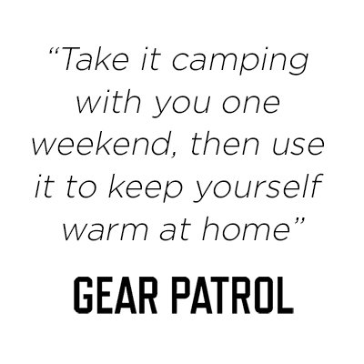 Take it camping with you one weekend, then use it to keep yourself warm at home -Gear Patrol Rumpl Review