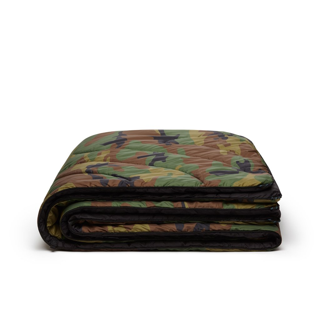 Rumpl | Original Puffy Blanket - Woodland Camo | 1-Person |  | Printed Original