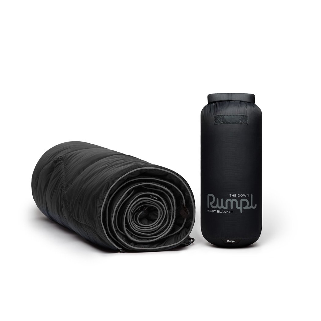 Rumpl | Down Puffy Blanket - Black | 1-Person |  | Solid Down