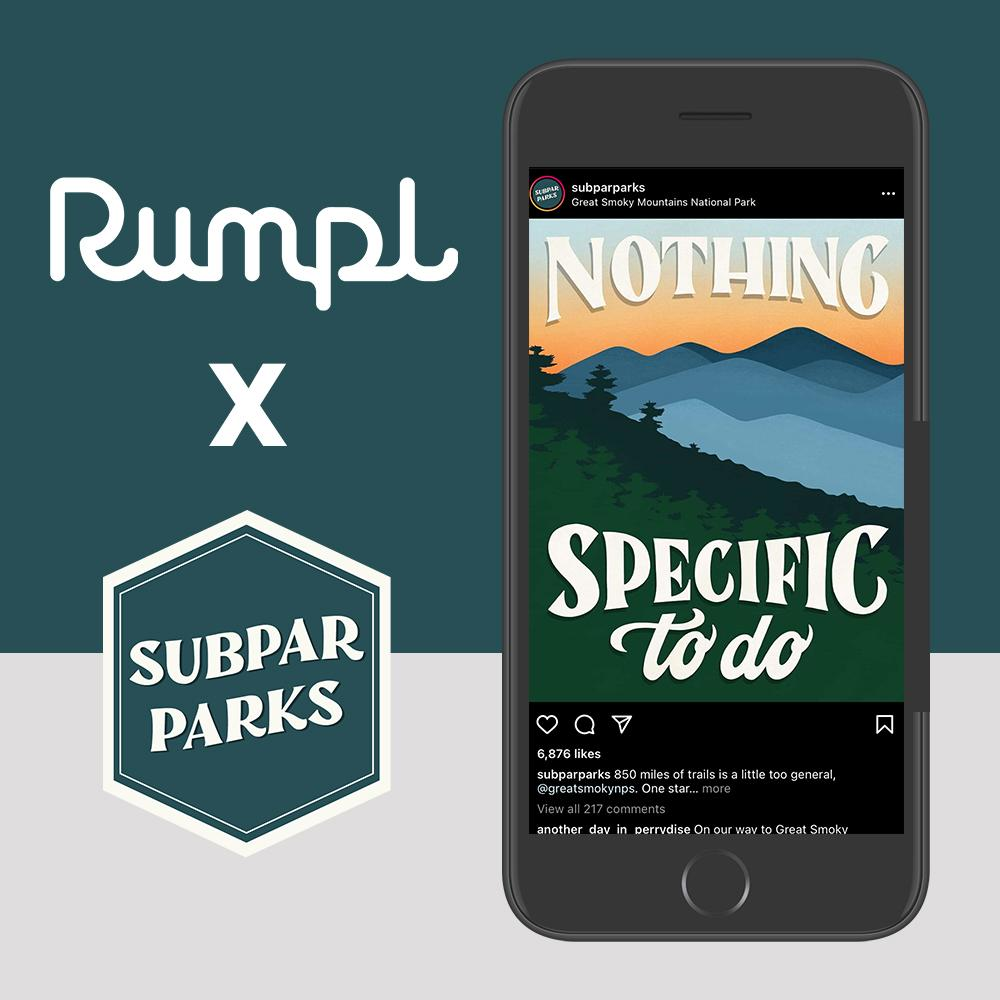 Rumpl | Subpar Parks Puffy - Great Smoky Mountains | 1-Person |  | Printed Original