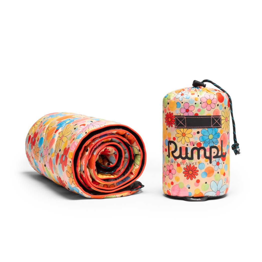 Rumpl | Original Puffy Blanket Junior - Dots & Daisies | Junior |  | Printed Original